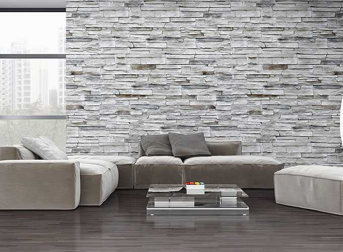đá ốp tường phòng khách