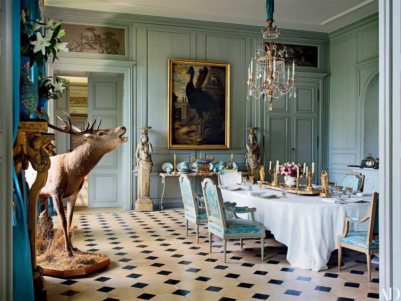 màu xanh ngọc cho phòng ăn
