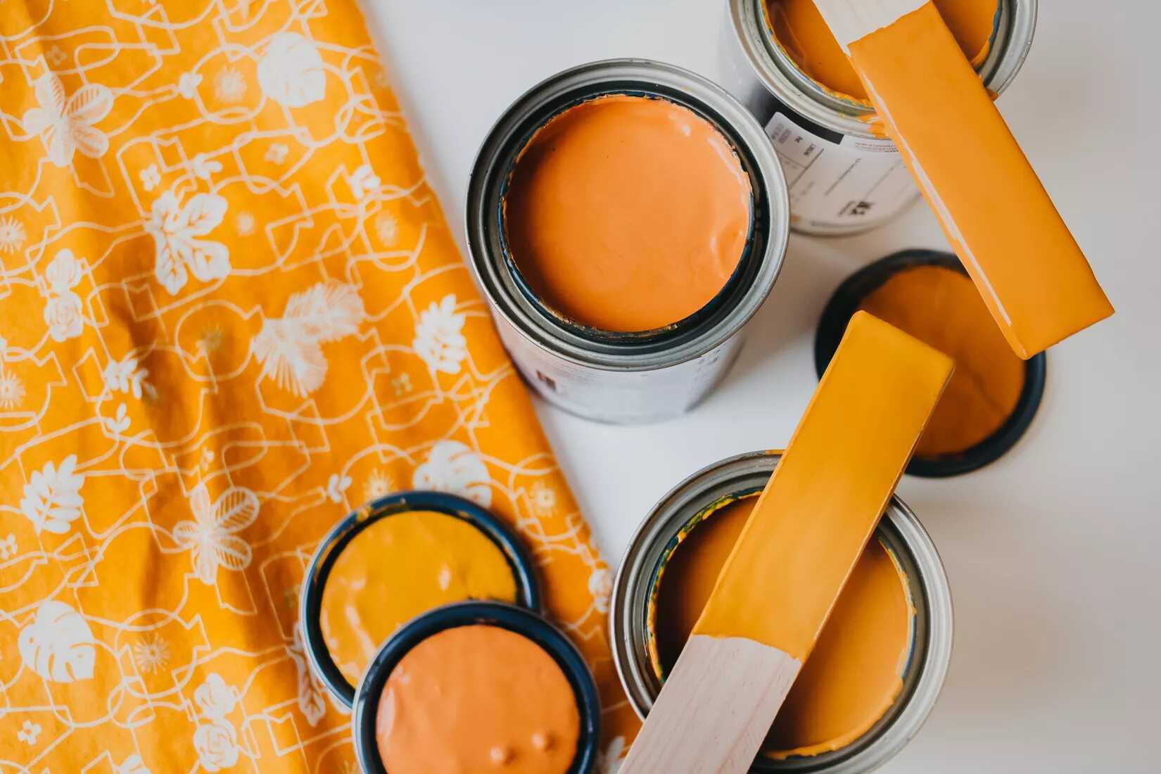 kết hợp sơn với vải