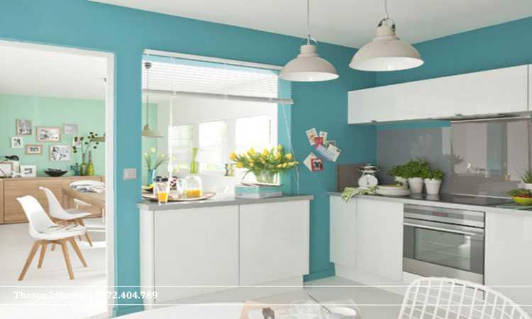 phòng bếp xanh