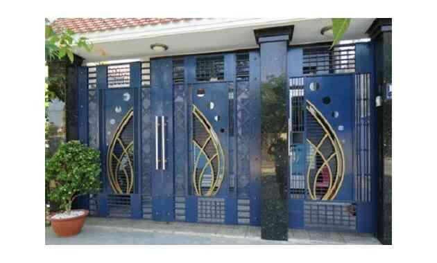cửa sắt màu xanh, màu sơn cửa sắt