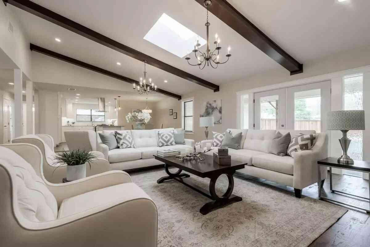 trần phòng khách đẹp hiện đại