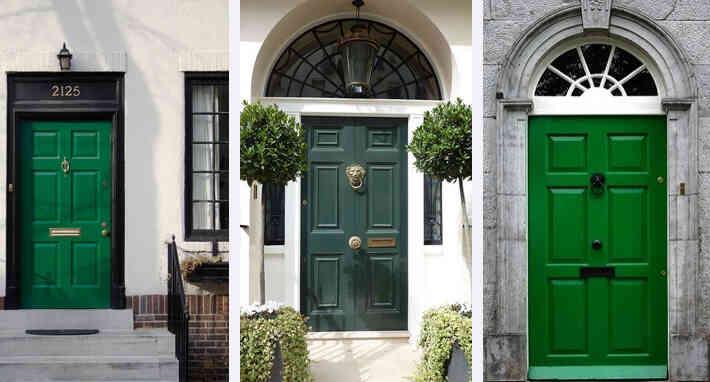 màu sơn cửa đẹp, cửa gỗ màu lục