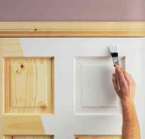 cách sơn cửa gỗ