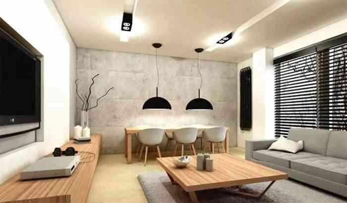 phòng khách hiện đại tối giản đẹp