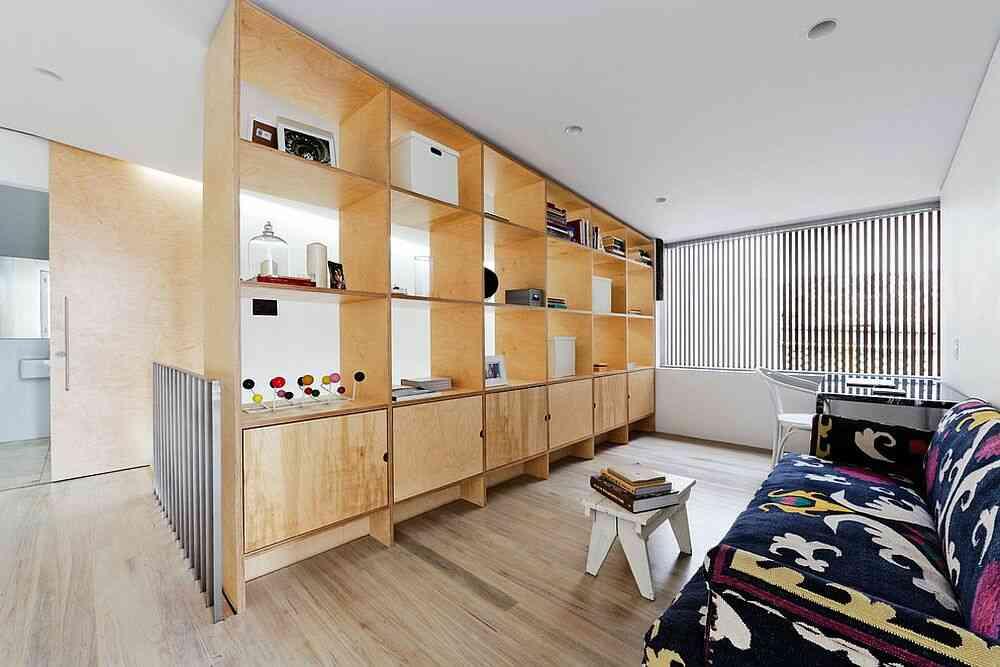 Tận dụng tối đa vách ngăn phòng của bạn bằng cách sử dụng nó như một đơn vị trưng bày và lưu trữ