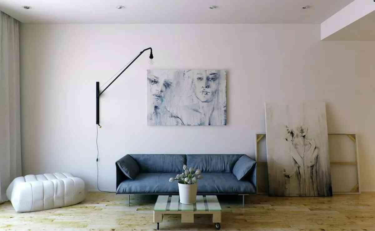 phòng khách tối giản hiện đại đẹp