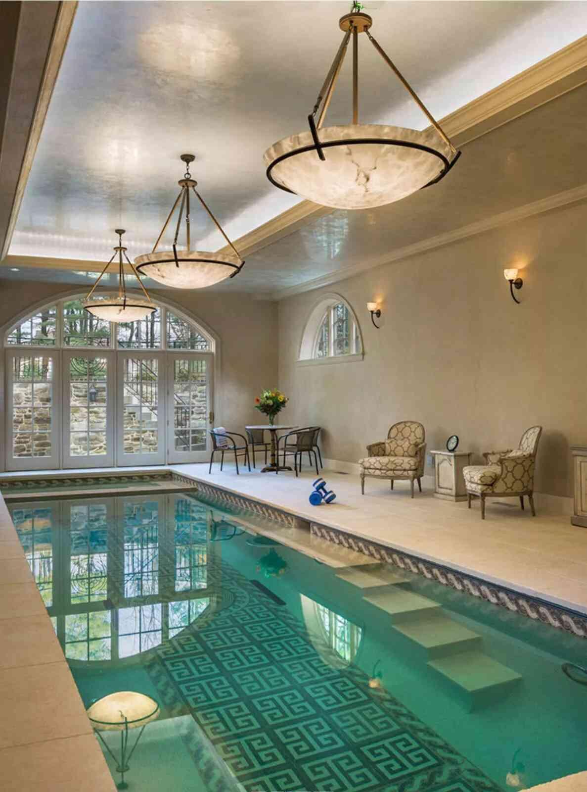 mẫu bể bơi trong nhà đẹp