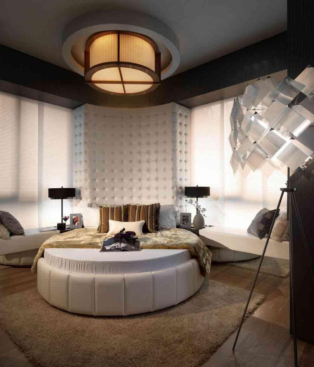 giường ngủ tròn hiện đại