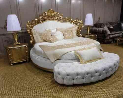 giường ngủ hoàng gia hình tròn