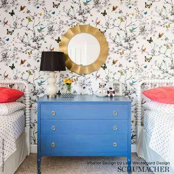 giấy dán tường hoa đep