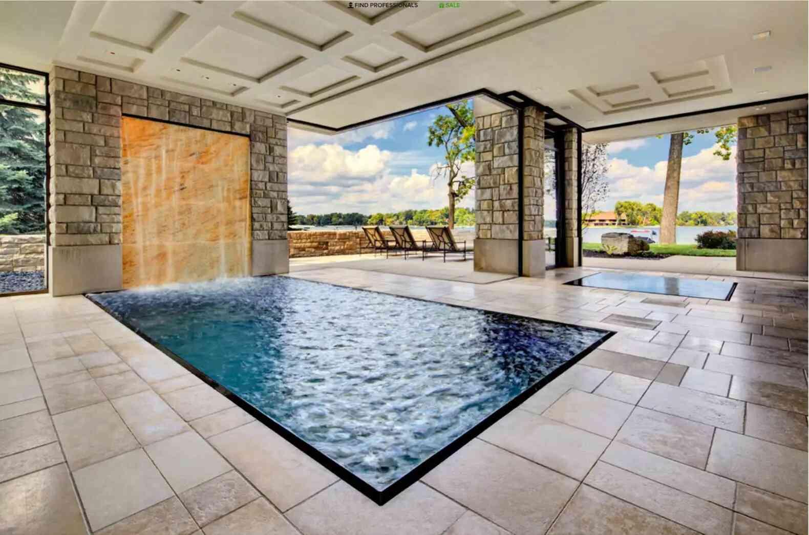 nhà nhỏ có hồ bơi