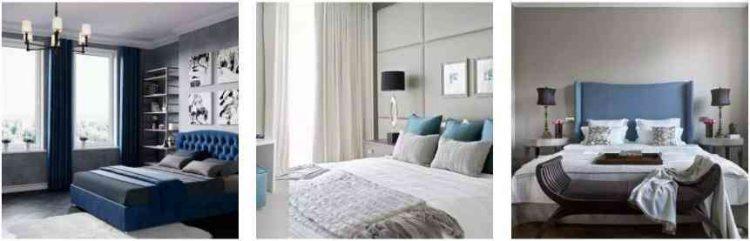 các mẫu phòng màu xám xanh đẹp