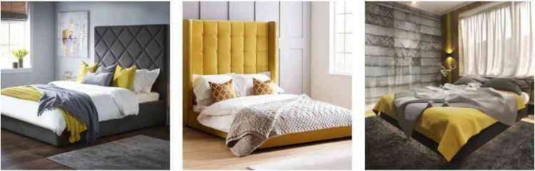 các mẫu phòng màu xám vàng đẹp
