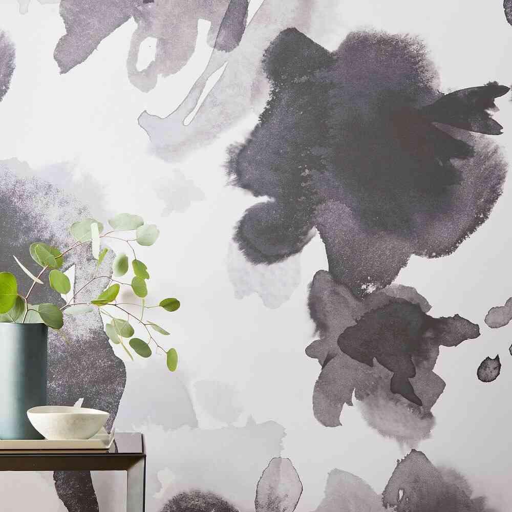 giấy dán tường vẽ màu nước