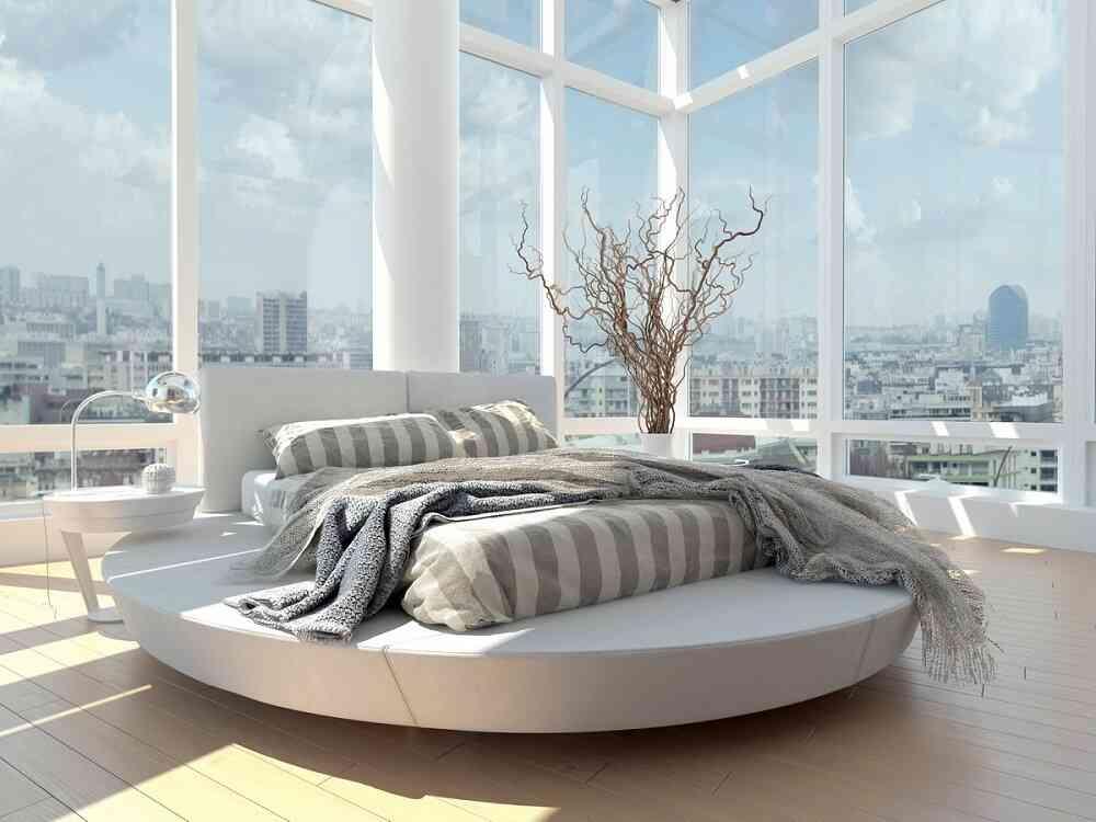 giường tròn sang trọng