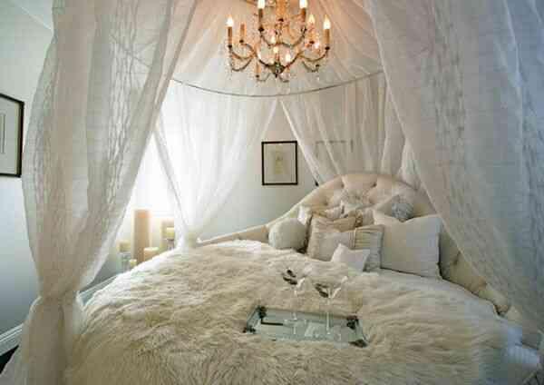 giường tròn công chúa