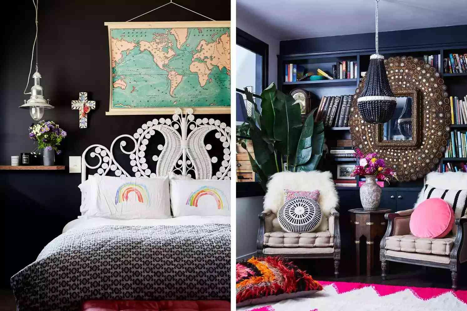 phòng ngủ đẹp màu đen