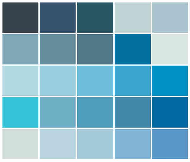 mệnh thủy hợp màu nào? bảng màu mệnh thủy