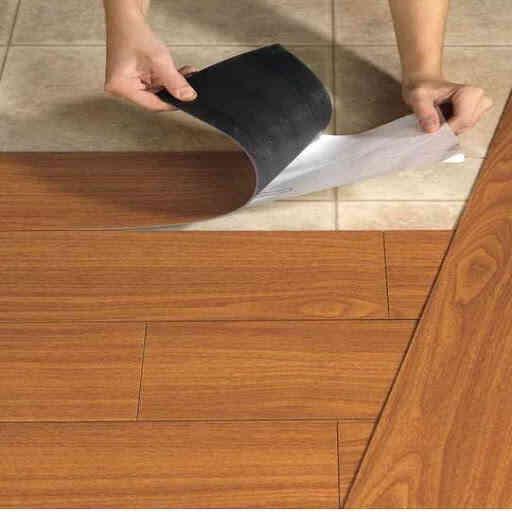 giấy dán nền nhà, tấm dán sàn