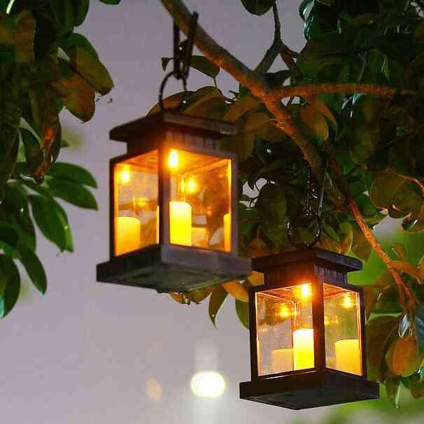 đèn lồng trang trí sân vườn