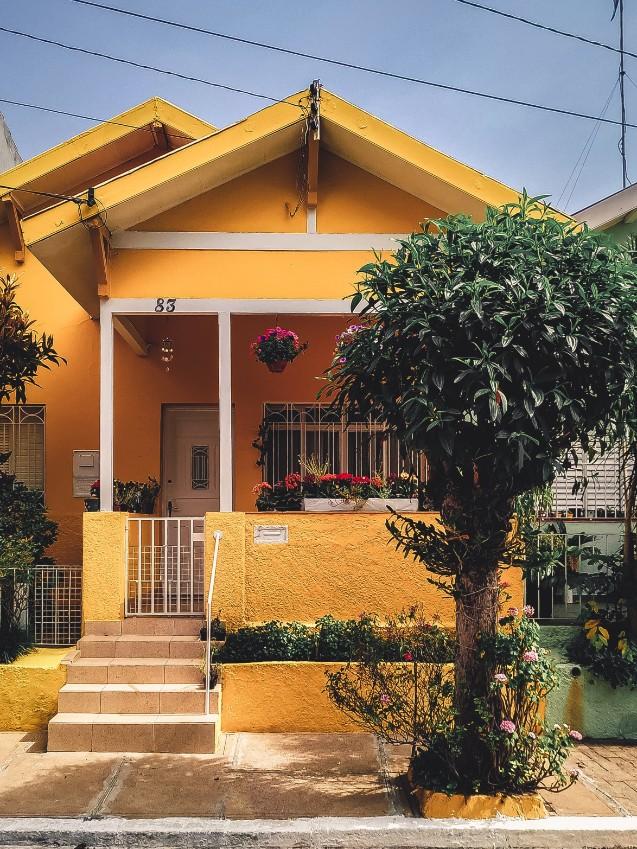 sơn nhà màu vàng nâu đẹp