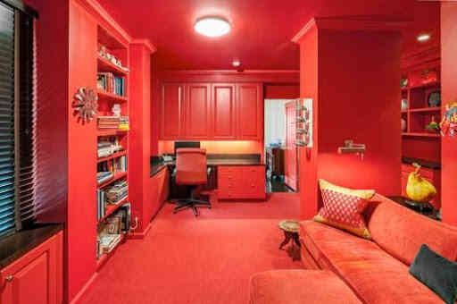 sơn nhà màu đỏ, phòng ngủ màu đỏ