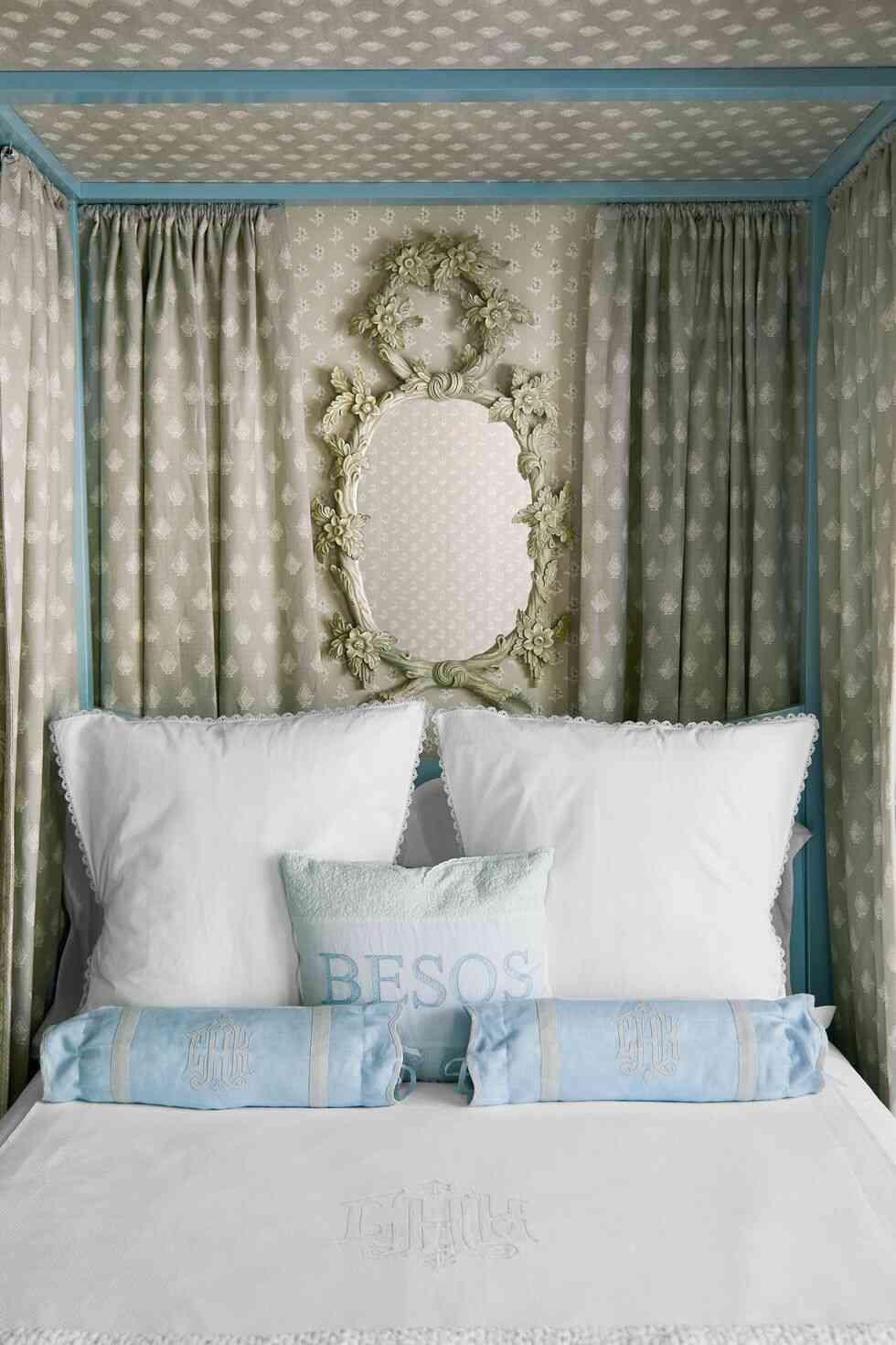 trang trí phòng ngủ đẹp, rèm xám