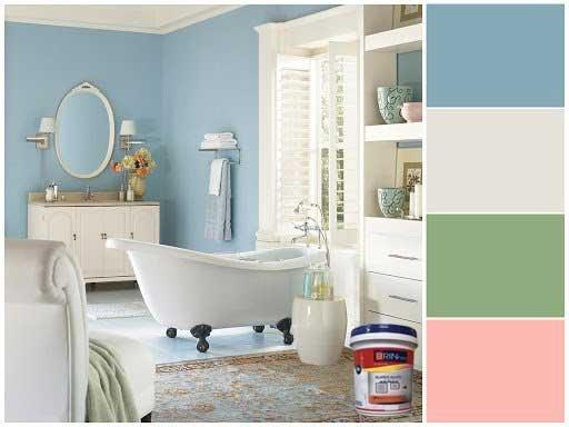 sơn brin paint chống thấm, sơn chống thấm phòng tắm