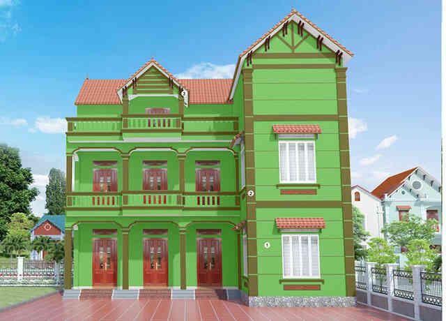 sơn nhà màu xanh lá cây