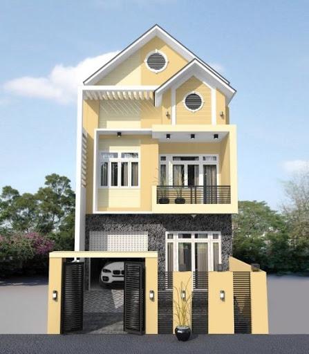 sơn nhà màu vàng nâu