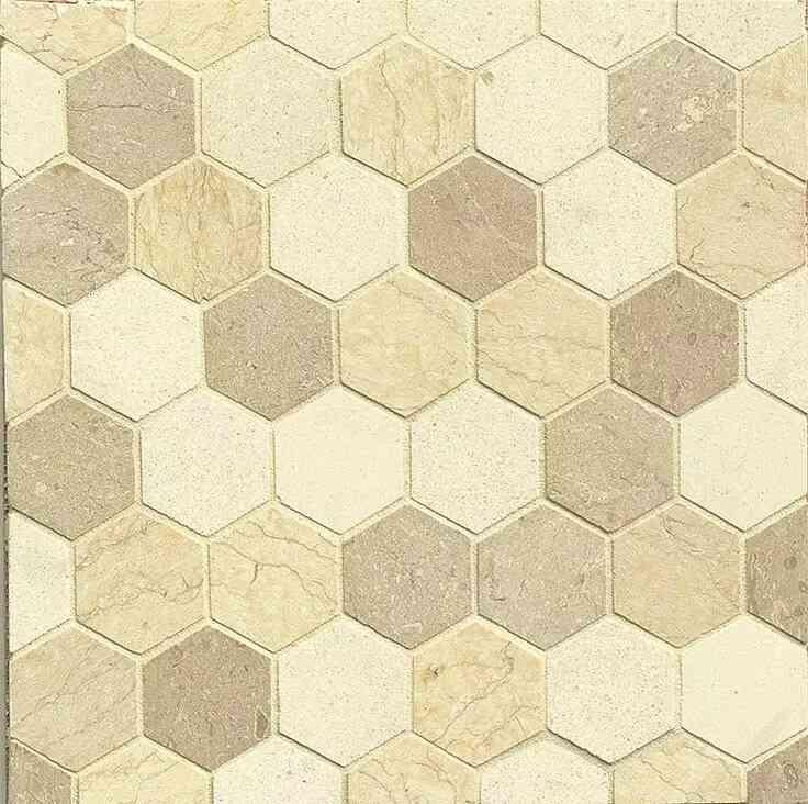 mẫu gạch lục giác đẹp màu vàng cát