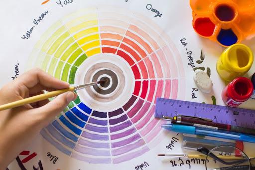 tự vẽ bánh xe màu sắc