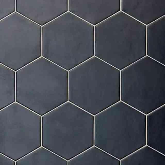 mẫu gạch lục giác nhám , mờ đẹp màu xám