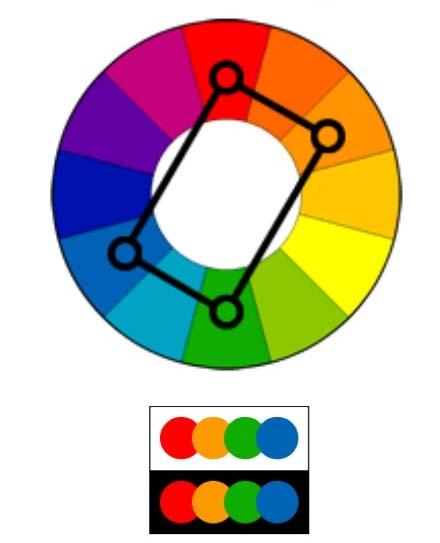 Kết hợp màu kiểu hình chữ nhật