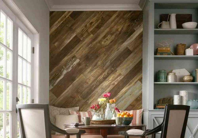 tường gỗ độc đáo, hiện đại