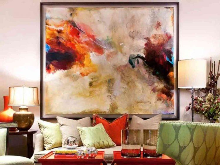 tranh sơn dầu treo phòng khách