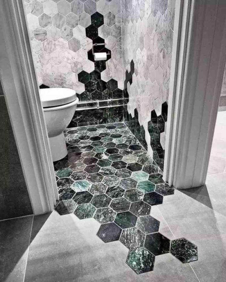 gạch lục giác lát nhà vệ sinh độc, sang trọng, đẹp