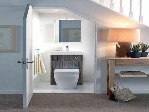 Ý tưởng nhà vệ sinh dưới gầm cầu thang