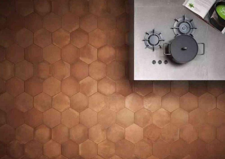 gạch lục giác lát sàn đơn giản, hiện đại