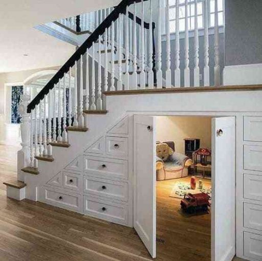Ý tưởng phòng chơi cho trẻ em dưới cầu thang