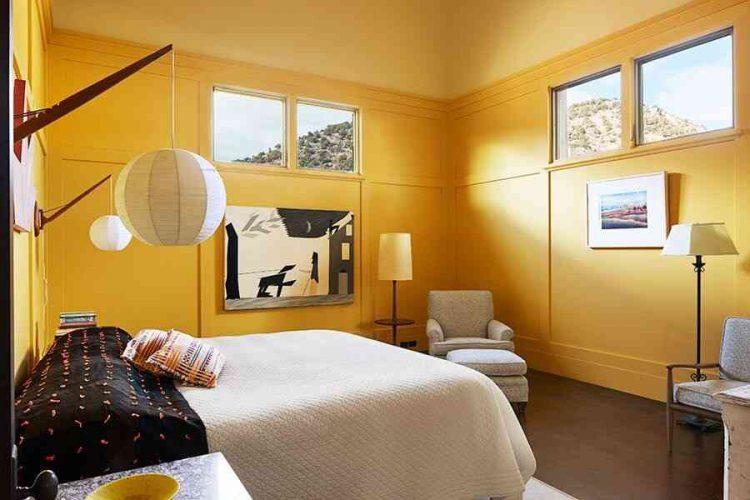 phòng ngủ màu vàng, phòng ngủ màu nóng