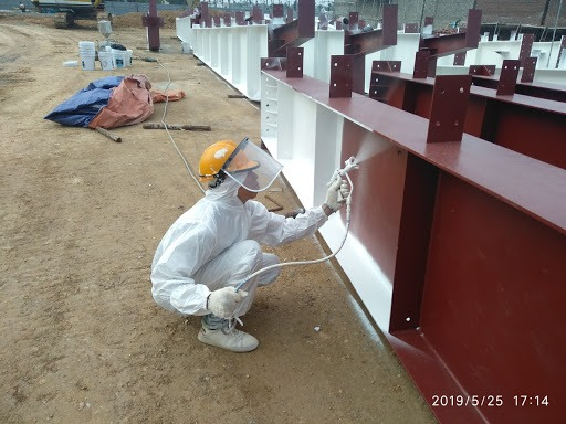 Quy trình thi công sơn chống cháy