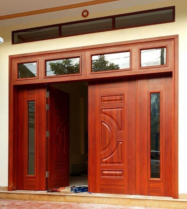 Giới thiệu về mẫu cửa sắt 4 cánh giả gỗ