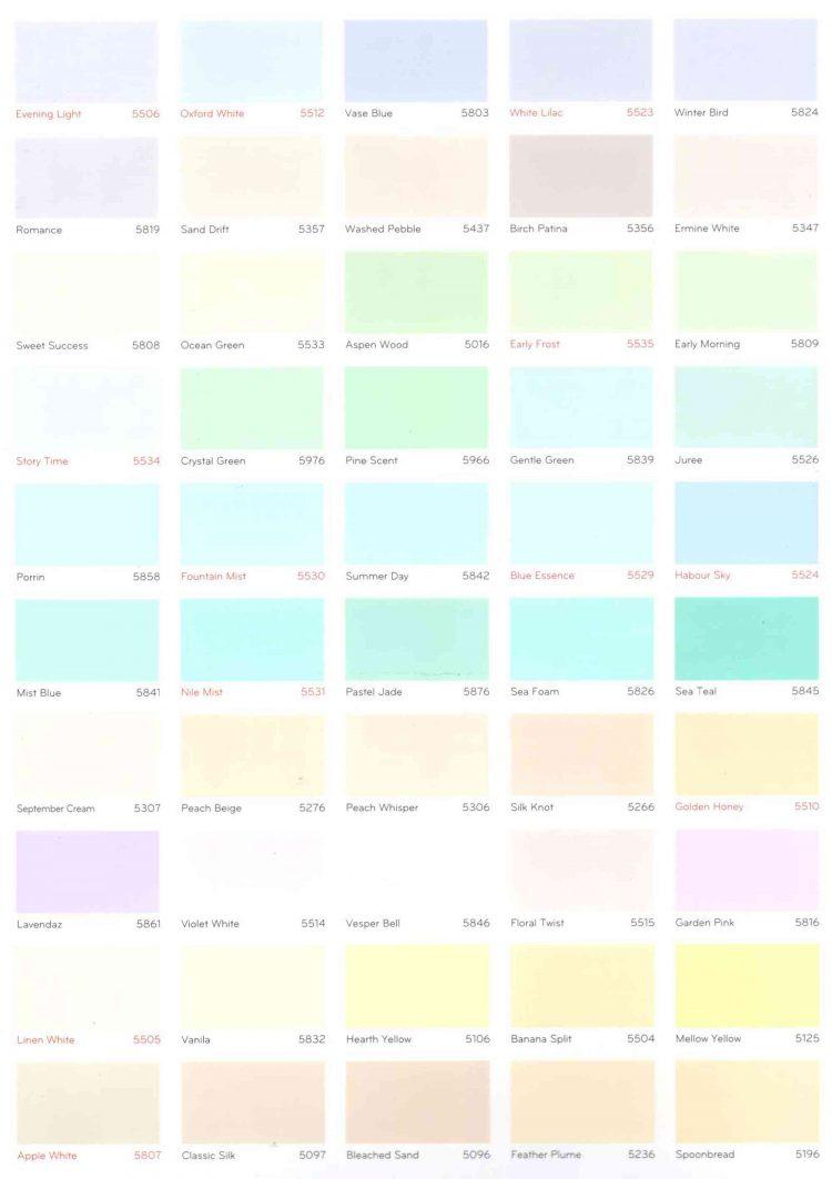 Bảng màu sơn nước nội thất NERO INT