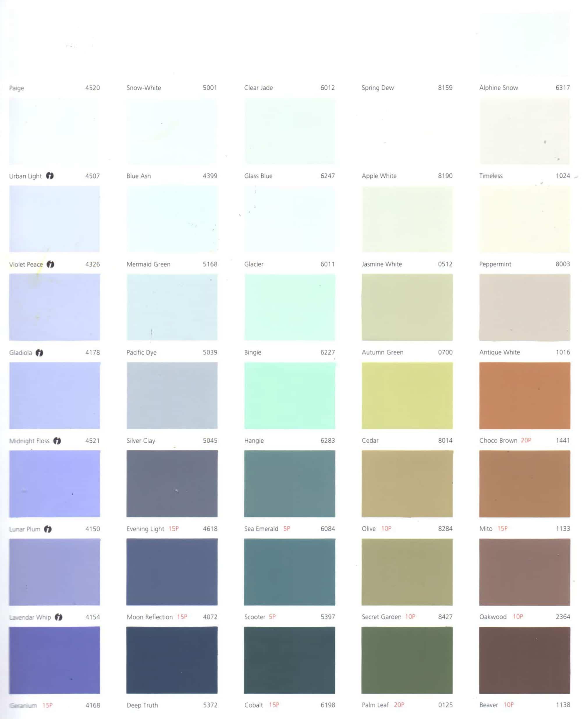 Bảng màu sơn nước Jotun Essence nội ngoại thất