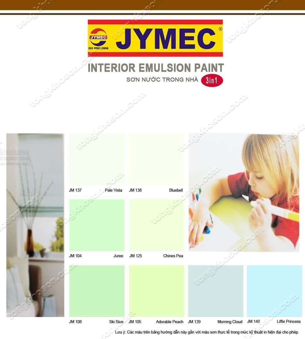 Bảng màu sơn JYMEC kinh tế