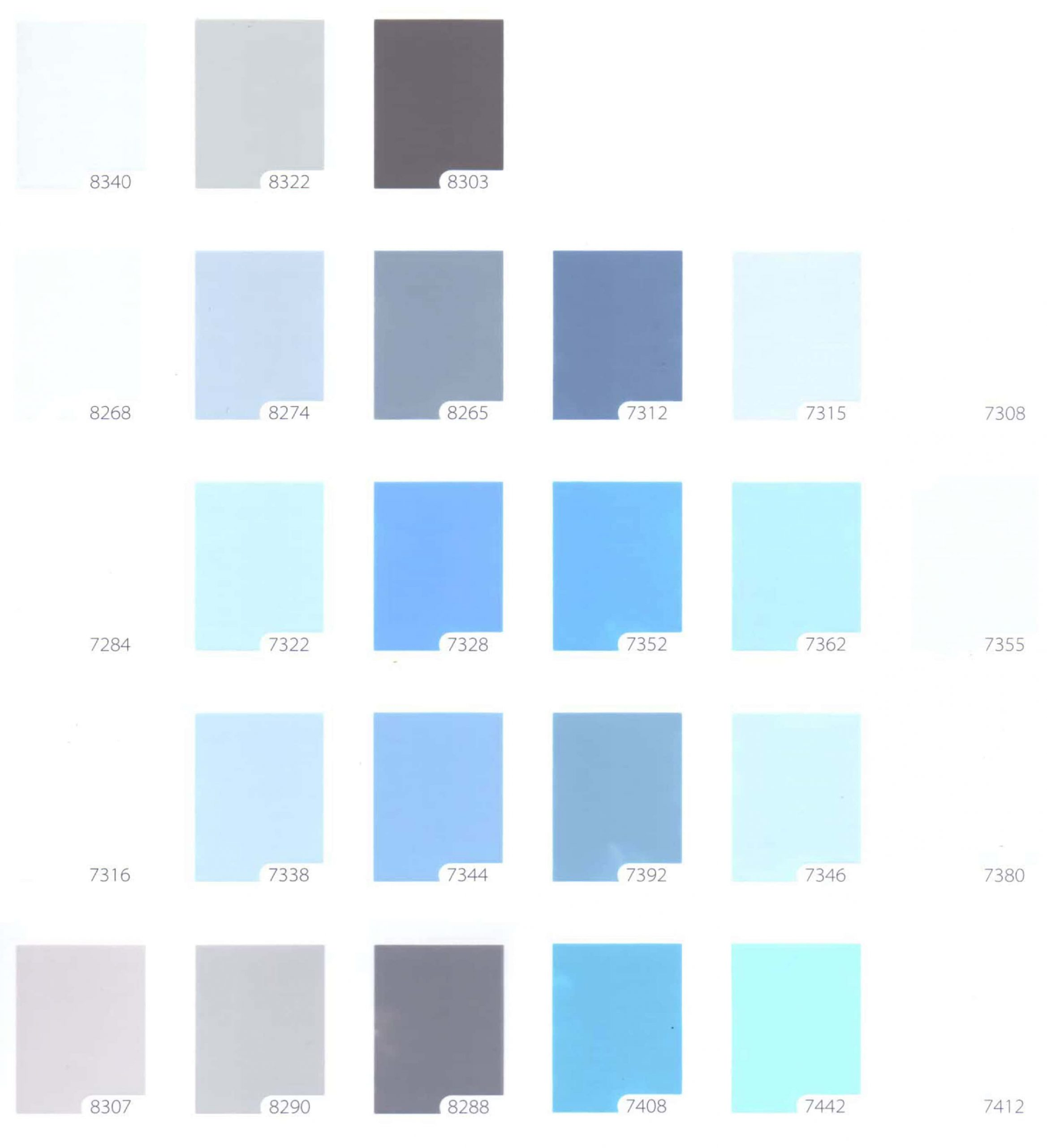 Bảng màu sơn nước TOA 4 Seasons nội - ngoại thất