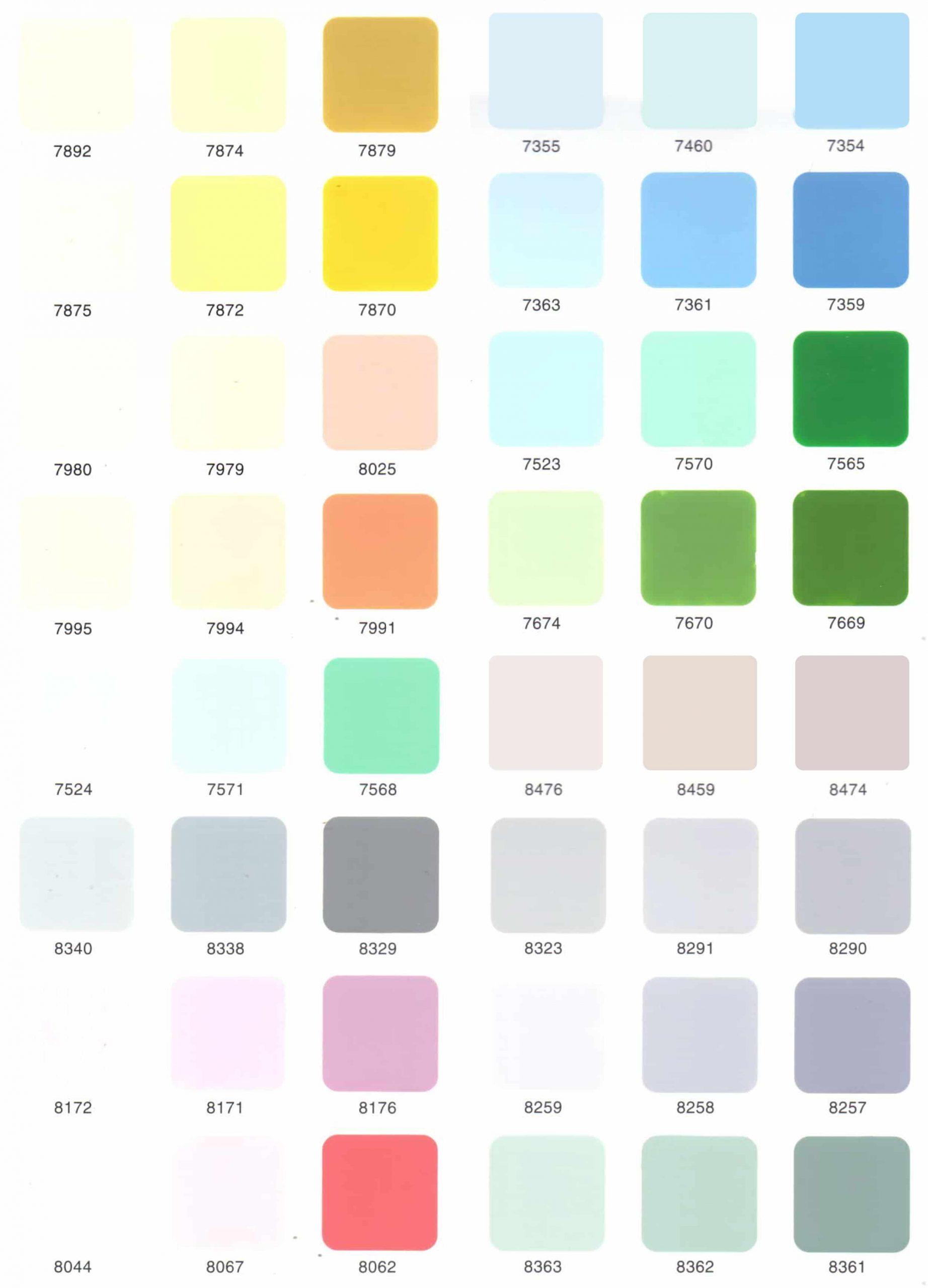 Bảng màu sơn nước TOA Nano Shield ngoài trời - Nano Clean trong nhà