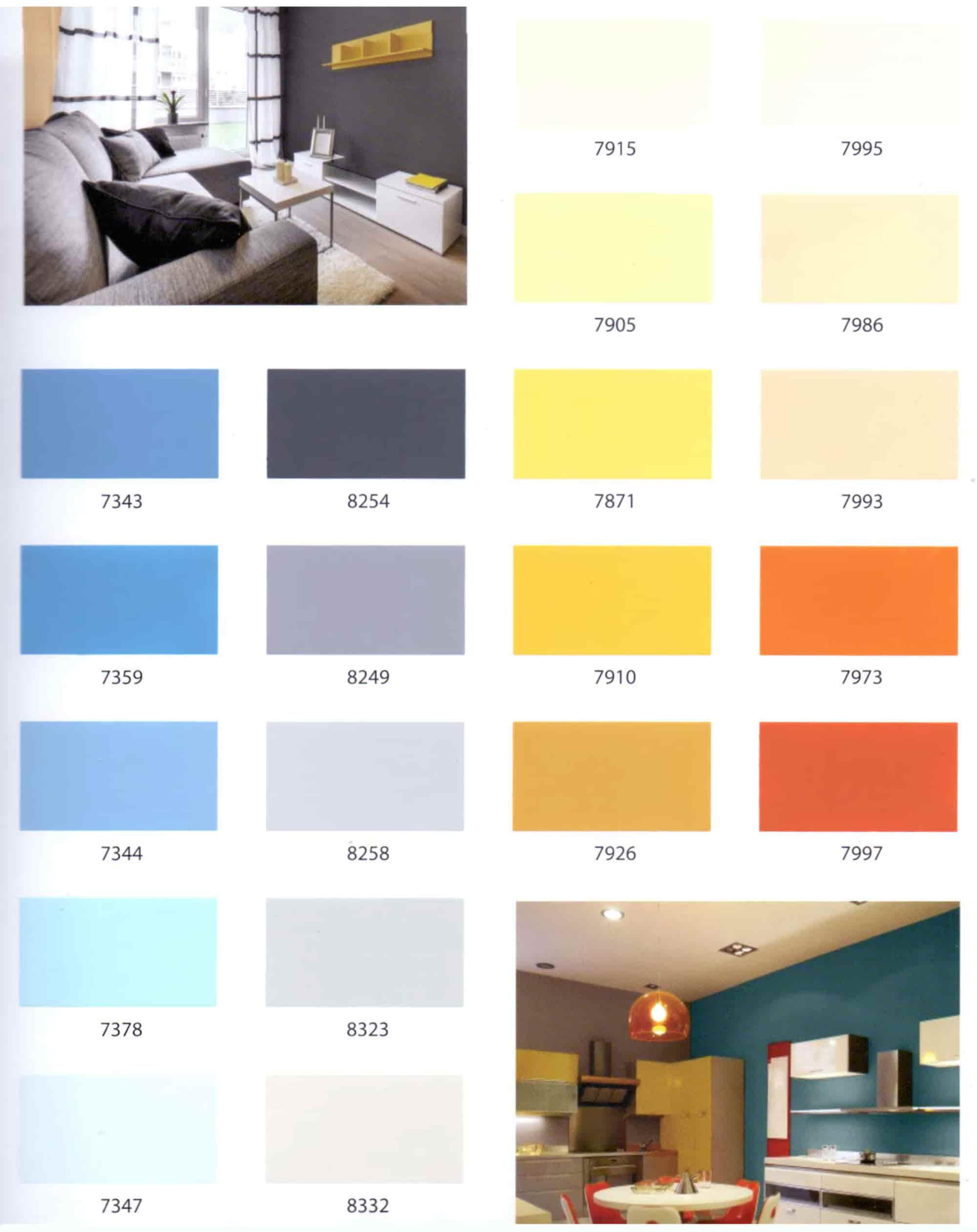 Bảng màu sơn TOA Supershield Duraclean nội thất